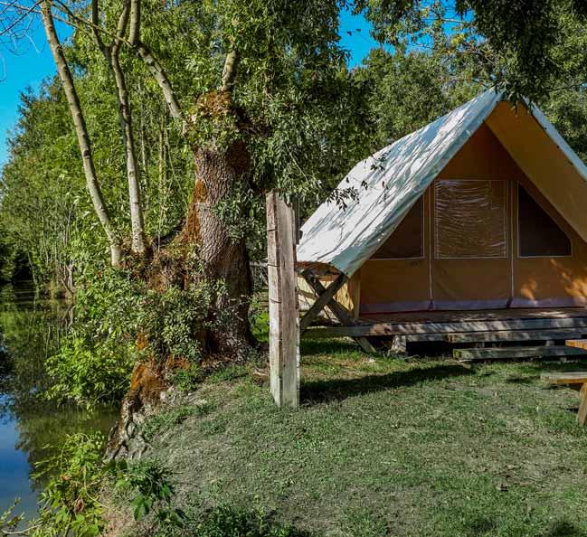 chalet-camping Le Lidon-marais-poitevin